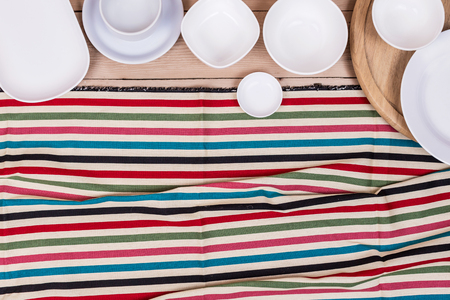 dazzlingly: Top View Empty Dish On Wood Background Textured
