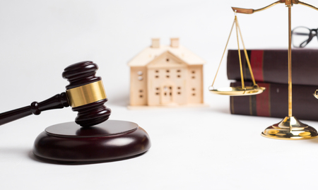 Law of real estate and property concept.