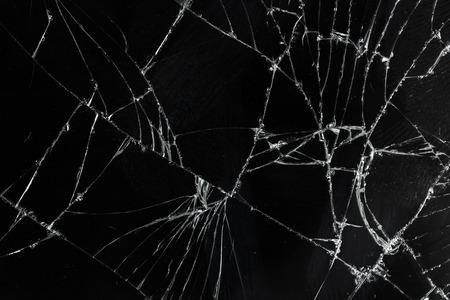 vue de dessus fissuré cassé écran de verre de texture de fond mobile
