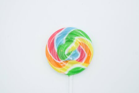 Lollipop shot on a white isolated background. Stok Fotoğraf