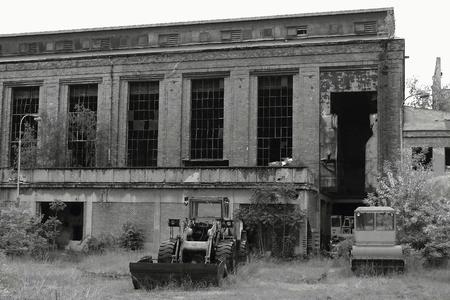 abandoned factory: Abandoned factory.