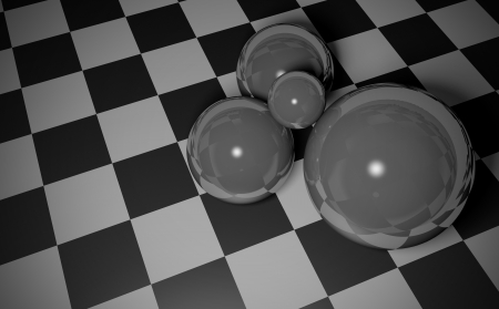Smooth balls lying on the chessboard