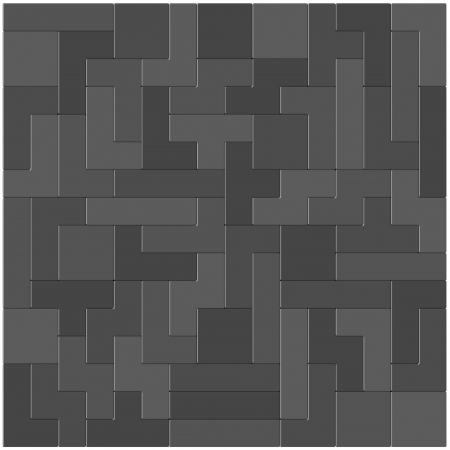 Lots of block placed side by side in monochrome color