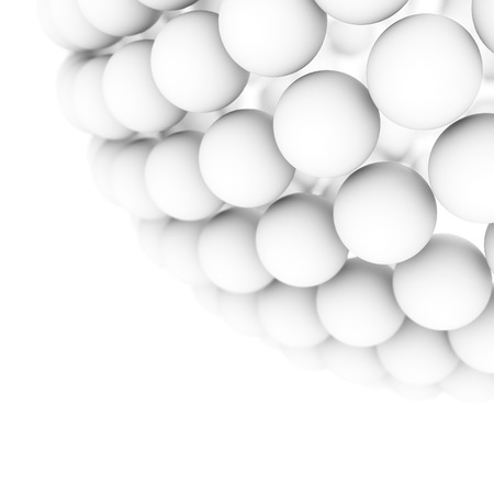 White balls forming a large ball