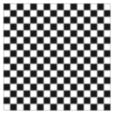 White and black chess board with decorative stripes on the fields