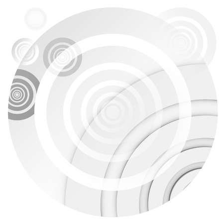 unbalanced: Unbalanced white-gray circles arranged in a modern way.