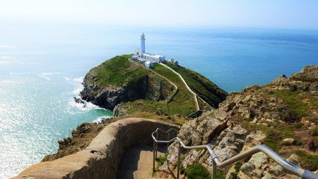 South stack lighthouse, holyhead. Wales Stock Photo
