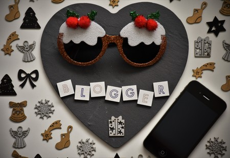 Word blogger with christmas elements.