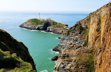 Capture of south stack lighthouse, Holyhead Wales.