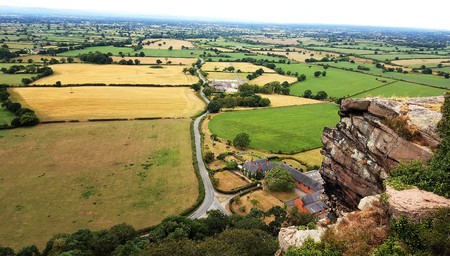 View captured from the ruins of Beeston Castle. Cheshire, England.