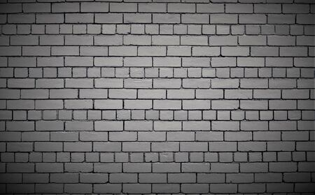 Silver or gray color painted brick wall.