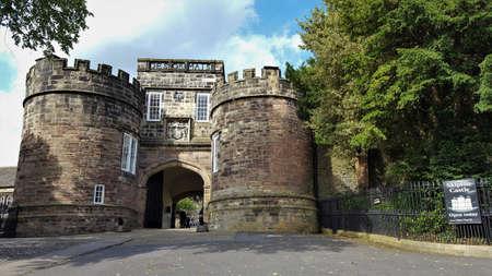 Main entrance door to skipton castle.