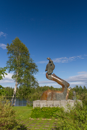 poems: Memorial of Eino Leion in Paltamo - most famous Finland writer