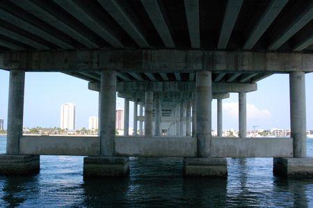under bridge