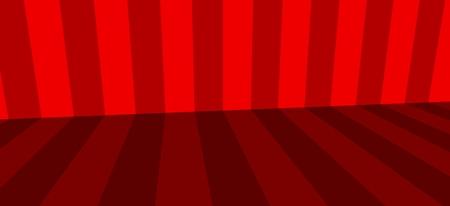 red background corner