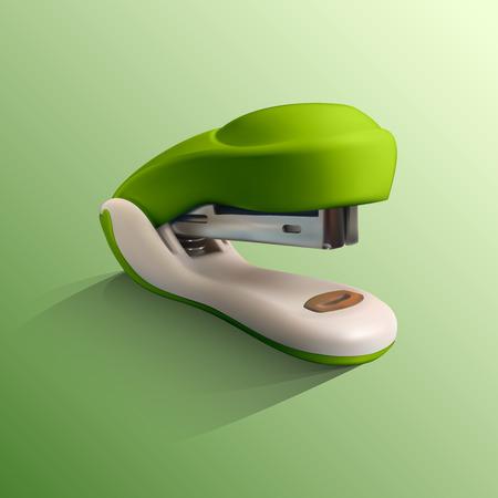 Realistic vector illustration of stapler