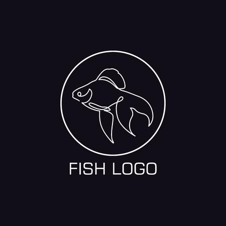 One line crab logo on Minimalist illustration. A Sea or river animal icon