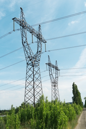 high tension: transmission line