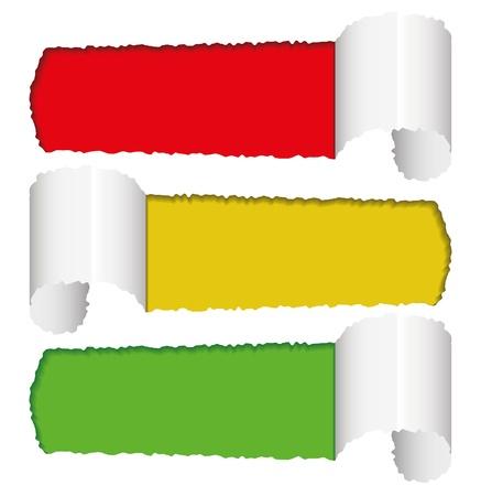 autocollant: vecteur de papier d�chir�