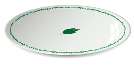 dish vector Illustration