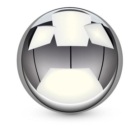 steel ball vector