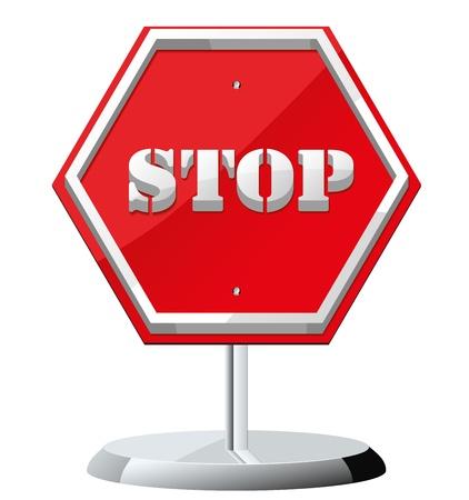 Stop icon vector Stock Vector - 16243859
