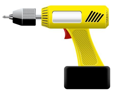 drive nail: screwdriver  Illustration