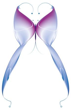 papillon: papillon abstrait