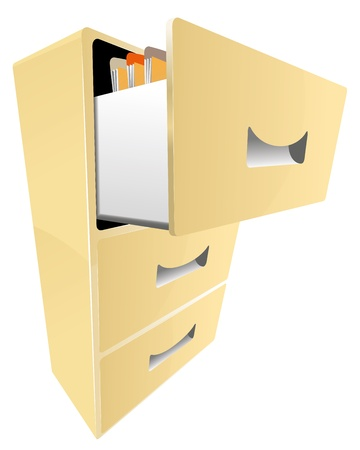 cabinet with documents vector Vector