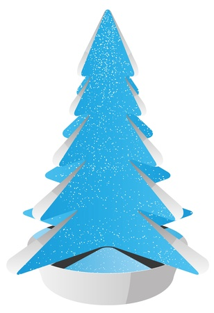 abstract christmas tree  Illustration