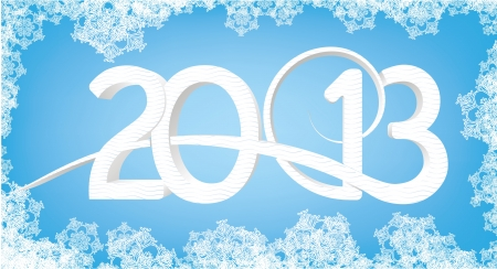 2013 card vector Stock Vector - 16840437