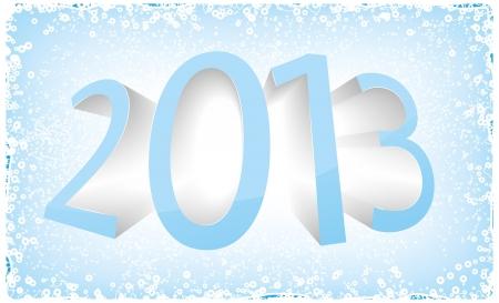 2013 card vector Stock Vector - 16840435