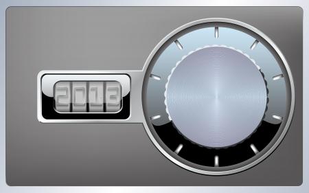combination lock card 2013 Stock Vector - 16872510