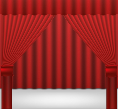red stage curtain: curtain vector