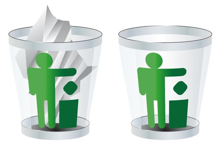 trash can Stock Vector - 17336527