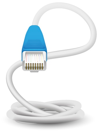 connector: network cable Illustration