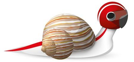 Fast snail vector Stock Vector - 17749782