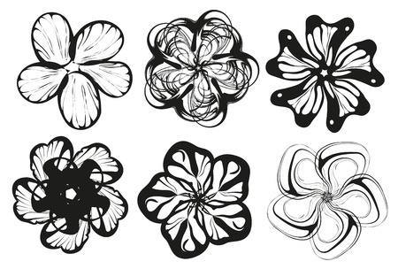 Flower silhouette vector Illustration