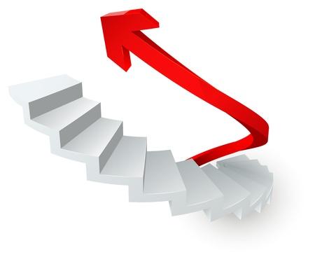 superacion personal: escalera vector