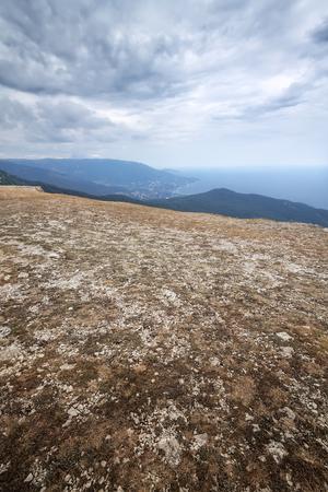 Mount Ai-Petri Crimea autumn picture the cool overcast Stock Photo