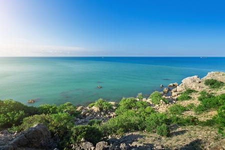 city Sudak Crimea travel bright summer photo