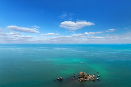 sudak: photo an aerial view of Crimea Stock Photo
