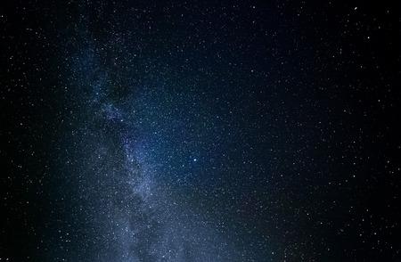 night photography starry sky summer countryside Ukraine Stock Photo