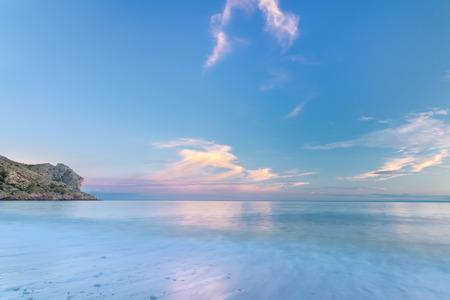 colorful evening picture of the Crimea Sudak
