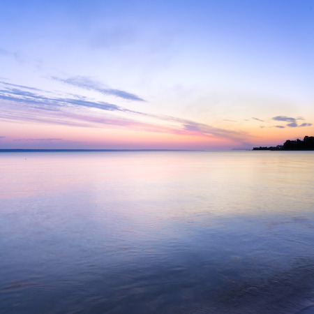 Early summer morning bright sky Beach