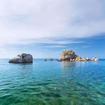 Crab island Crimea  bright summer photo trip to the Crimea Stock Photo
