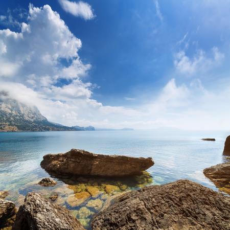 sudak: Golitsyn trail photo day  settlement New Svet Crimea Stock Photo