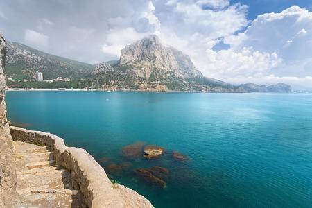 majesty: Golitsyn trail photo day  settlement New Svet Crimea Stock Photo