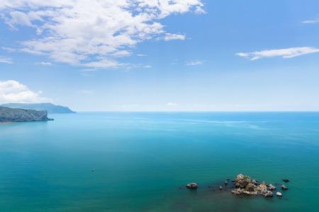 sudak: Crab Island sudak   photo an aerial view of Crimea Stock Photo