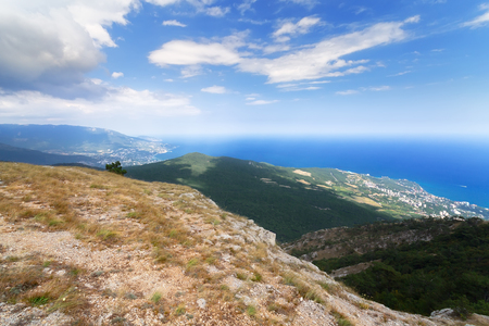 The top of AI Petri, the view from the top of the mountain  Yalta Crimea beauty of nature summer Stock Photo